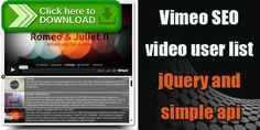 [ThemeForest]Free nulled download Vimeo SEO Video Playlist jQuery from http://zippyfile.download/f.php?id=56787 Tags: ecommerce, jquery, oop, php, seo, vimeo