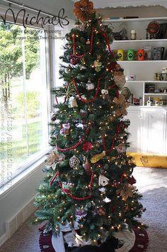 Woodland Christmas Tree by @Amanda Snelson Formaro #JustAddMichaels