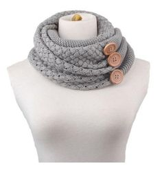 Cute, Knit Button Scarf $6.87 Shipped!