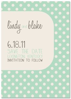 Save the Date - without a picture attached