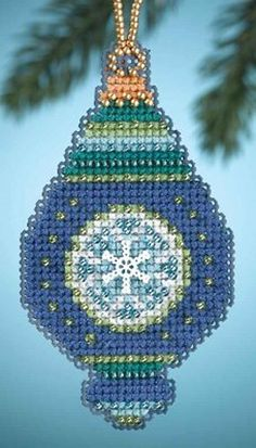 Mill Hill Christmas Jewels  Lapis MH164306 by DebiCreations, $6.45