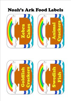 Noah's Ark Party Food Labels from my Etsy Store  $2.50