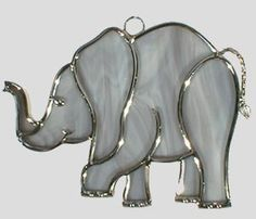 free elephant stained glass pattern - Google Search