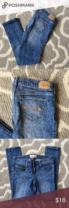 Abercrombie Kids Jeans 16 Girls Abercrombie Kids Jeans with fun print and zippers. In great condition abercrombie kids Bottoms Jeans