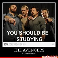 off to go study... : (  (By the way... captain america is not here, and that makes this 89% less valid)