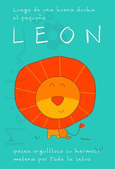 León, selva, ilustraciones infantiles, Meiblin