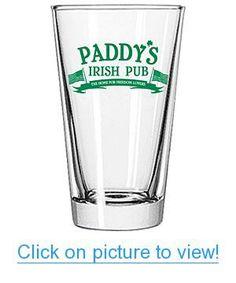 Paddy's Irish Pub Pint Glass Home #Office #Glassware #Drinkware