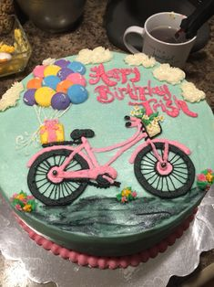 Bicycle balloon cake
