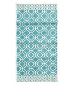 Patterned Cotton Rug ($30) | The Most Stylish H&M Summer Decor Under $50 | POPSUGAR Home