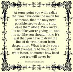 What is truly yours..