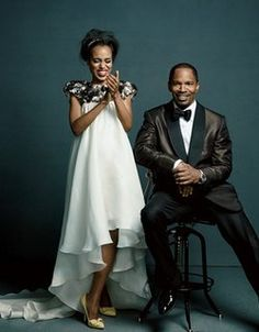 Jamie Foxx and Kerry Washington who are co stars in the new film Django Unchained cover the new issue of LA Confidential.
