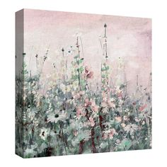 Masterpiece Art Gallery Madeline Square II Wildflowers By Studio Arts Canvas Art Print 35 inch x 35 inch, Pink My Canvas, Canvas Frame, Canvas Art Prints, Canvas Wall Decor, Home Decor Wall Art, Room Decor, Botanical Wall Art, Art Studios, Wrapped Canvas