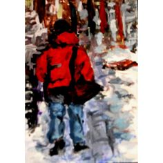 Snow In The City An Original ACEO Painting #zibbet