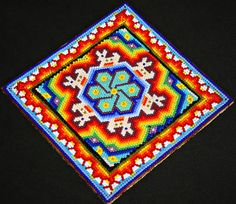 Huichol Bead Painting Huichol Beadwork by BiuluArtisanBoutique