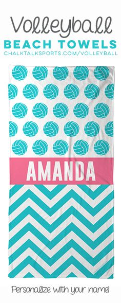Our #volleyball beach towels are the perfect way to show off your love of volleyball all summer long!