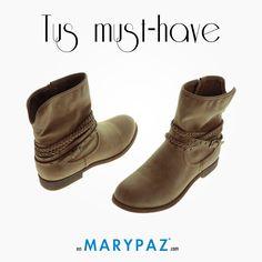 Empezamos a preparar nuestro armario con un calzado más otoñal. Enamorate de nuestros botines de MARYPAZ, perfectos para el inicio de la nueva temporada ;)  #botines #autumn #areyouready? #areyoucrazy? #SS15 #feelgood #feelMARYPAZ #tendencias #cool #moda  Shop at ► http://www.marypaz.com/tienda-online/botin-plano-con-trenzas-y-hebilla.html?sku=70879-42