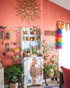 """We're crazy, colorful, vibrant and fun so we created a home that makes us feel happy!"""