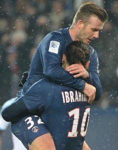 1er match de David Beckham  PSG/OM : 2-0