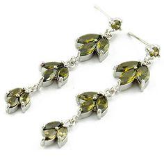 Fashion New Korean Hot Sale Copper Silver Zircon Leafage Earrings[US$6.71],shop cheap fashion earring at www.favorwe.com