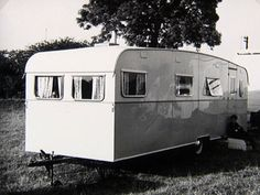 """Described as a """"Suntrailers living wagon"""", photo taken in 1961"""