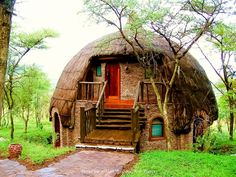 National Park Serengeti Tanzania Africa | Dome Rondavels ~ Serengeti National Park, Tanzania, Africa