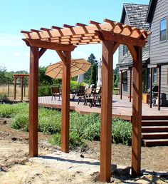small pergola kit   Small Pergola - Pergolas   Forever Redwood-- for wedding ceremony and then use as backdrop for DIY photo booth