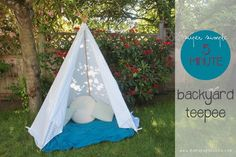 Super Simple 5 Minute Backyard Teepee ‹ Mama. Papa. Bubba.Mama. Papa. Bubba.