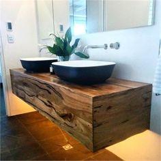 timber slab vanity - Google Search