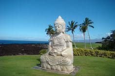 Buddha Point on the grounds of the Hilton Waikoloa Village Resort, Big Island, Hawaii, Jan 2013