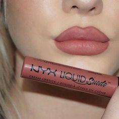 Nyx cosmetics soft spoken liquid suede lipstick KorTeN StEiN - Make Up Makeup Swatches, Love Makeup, Skin Makeup, Makeup Inspo, Eyeshadow Makeup, Nyx Lipstick Swatches, Makeup Ideas, Makeup Kit, Nyx Liquid Suede Swatches