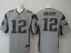 New England Patriots 12 Tom Brady Gray Gridiron Gray Nike Limited Jersey  Nfl Jerseys For Sale 4c7762d13