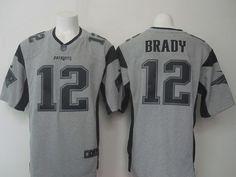 7acebc5b13b New England Patriots 12 Tom Brady Gray Gridiron Gray Nike Limited Jersey  Nfl Jerseys For Sale