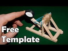 How to make a mini catapult - (Medieval Toy) - YouTube