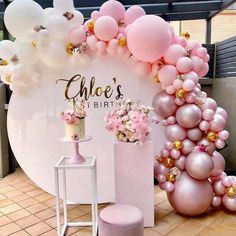 Wedding party backdrop white wrought iron square Pillars dessert table birthday party cake flower stand home decoration accessories - Geburtstag Dekoration 1st Birthdays, 1st Birthday Parties, Girl Birthday, Cake Birthday, Birthday Backdrop, 21 Birthday Balloons, Birthday Event Ideas, Classy Birthday Party, Wedding Balloons