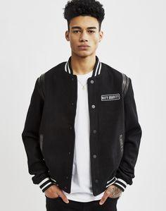 Eleven Paris Defy Gravity Bomber Jacket Black | Shop men's clothing at The Idle Man Formal Casual, Eleven Paris, Black Bomber Jacket, Men's Clothing, Contemporary Style, Parisian, Man Shop, Jackets, Clothes