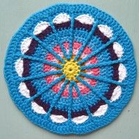 Crochet Mandala Wheel made by Paula, USA, for yarndale.co.uk  my co-worker did this, so cool!