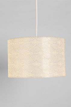 Embroidered Pendant Shade  #UrbanOutfitters (evidently a pewter color, not at all like pictured, but nice idea)