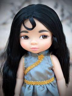 Oriental inspired Dress for Disney Animator por LittleBigBoutique Mulan Doll, Disney Princess Dolls, Disney Animator Doll, Disney Dolls, Aladdin, Pocahontas, Disney Animators Collection Dolls, Realistic Dolls, Doll Repaint
