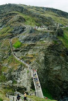 Tintagel stairs to King Arthur's Castle, Tintangel, U.K.