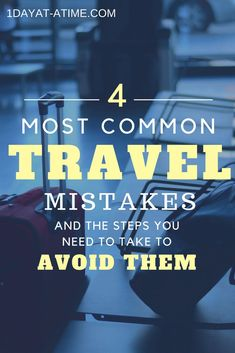 Its summer time, but pay close attention to the below travel mistakes people do when travelling. 4 travel mistakes that can turn your holidays upside down! Travel Advice, Travel Guides, Travel Tips, Travel Destinations, Travel Deals, Travel Hacks, Travel With Kids, Family Travel, Family Camping
