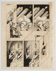 Victor Moscoso_ Camel, (Zap Comix No. 2), [set of 2], 1968 Ink on paper 14 x 11 inches (35.6 x 27.9 cm) Inv #VM7431A