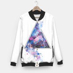 Triangle Space Baseball Jacket #whitejacket #print #art #watercolor #sweaterweather #draw #artworks #sailormoon #liveheroes #sketch #spaceart #tshirt #heart #iphonecase #cosmos #fashion2017 #nataliadorosh #galaxy #jacket #space #endiart #bomber #sketch #ukrainiandesigner #design #deliveryworldwide #nature   #greysweater #whitetshirt