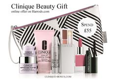 Spend £50 on any Clinique products at Harrods to receive this gift. http://clinique-bonus.com/united-kingdom/ Instore offer may vary.