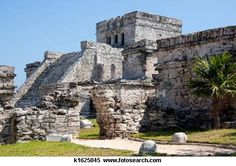 Tulum, Mexico saw the ruins.  Did not make it very far up those steps.  They were steep!