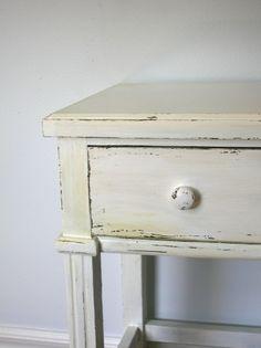 DIY distressed wood refinishing.