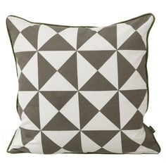 Geometry cushion large, grey, by Ferm Living.