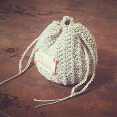 丸ころちゃん巾着_かぎ針編み