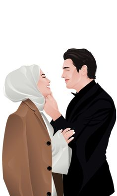 Wedding Illustration, Portrait Illustration, Cute Illustration, Cute Couple Cartoon, Cute Couple Art, Cute Muslim Couples, Cute Couples, Islamic Cartoon, Wedding Couple Poses Photography