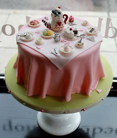 tea party cake - this is so cute!