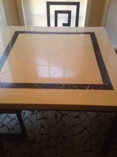 Marble table set with four chairs - $175